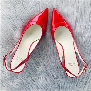 a75459423713d Stuart Weitzman Shoes   Nwt Stuart Weizman Glossy Red Kitten Heels ...